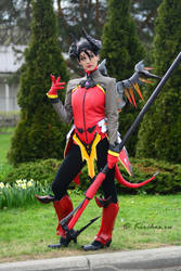MoscowComicCon 2017 - Overwatch Devil Mercy by Kirchos
