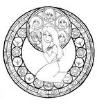 Chings Stained Glass Uncolored by Karljna