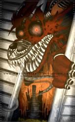=FNAF= Nightmare Foxy! by Amel-Genius17