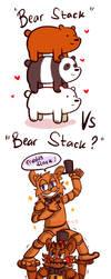 =FNAF/WBB= Bear Stack vs Bear stack?!! (doodle) by Amel-Genius17