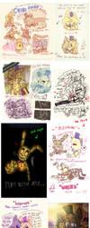 =FNAF DOODLE= Amel-genius17 tumblr junk by Amel-Genius17