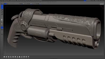 CGworkshops gunproject WIP by Kawatta