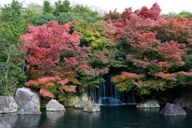 hidden waterfall by O-Gosh