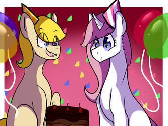 Happy birthday peacock and Snowflake! by shadowbonniecutie