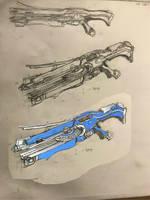 Tenno 'Meridian' shotgun by HaruAxeman