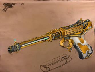 Tenno 'Bellatrix Prime' Target Pistol by HaruAxeman