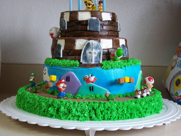 Super Mario Birthday Cake 1 by JasonChapman