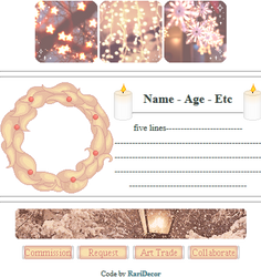 +|F2U|+ Golden Christmas Custombox by RariDecor