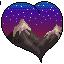 +|F2U|+ Mountainous Sunset Heart by RariDecor