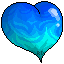 +|F2U|+ Blue Flaming Heart by RariDecor