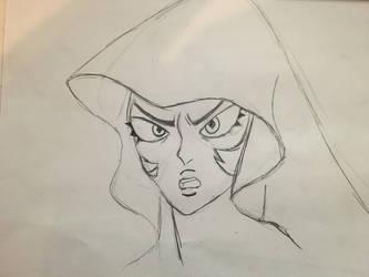 [sketch] Blue Diamond up close by AwokenArts