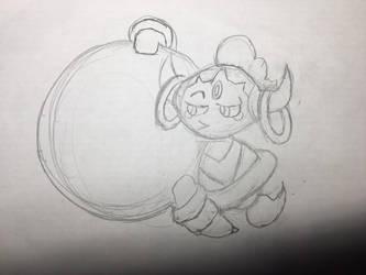 [sketch] Hoopa looking in by AwokenArts