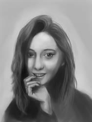 Girl in monochrome by Lalochnica