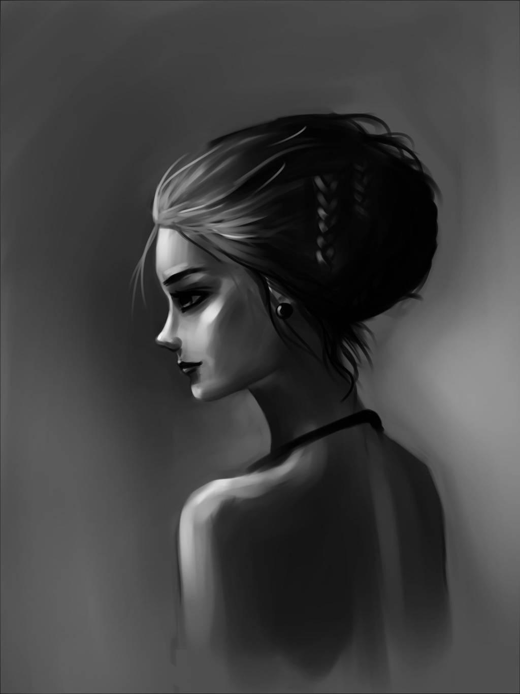 girl study by Lalochnica