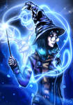 Girl mage with her patronus by SlamNSK