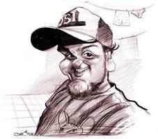 Caricaturist Manohead Fabricio by nelsonsantos