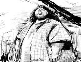 Caricature of Lost Hurley dude by nelsonsantos