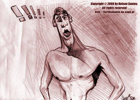 Michael Phelps Caricature by nelsonsantos