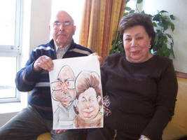 Live Caricature Old Couple by nelsonsantos