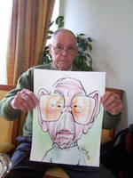 Live-Caricature of Old Man by nelsonsantos