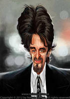 Al Pacino caricature portrait by nelsonsantos