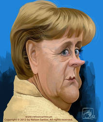 Angela Merkel caricature by nelsonsantos