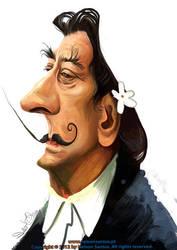 Salvador Dali caricature by nelsonsantos