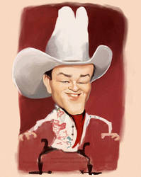 Roy Rogers The King of Cowboys caricature by nelsonsantos
