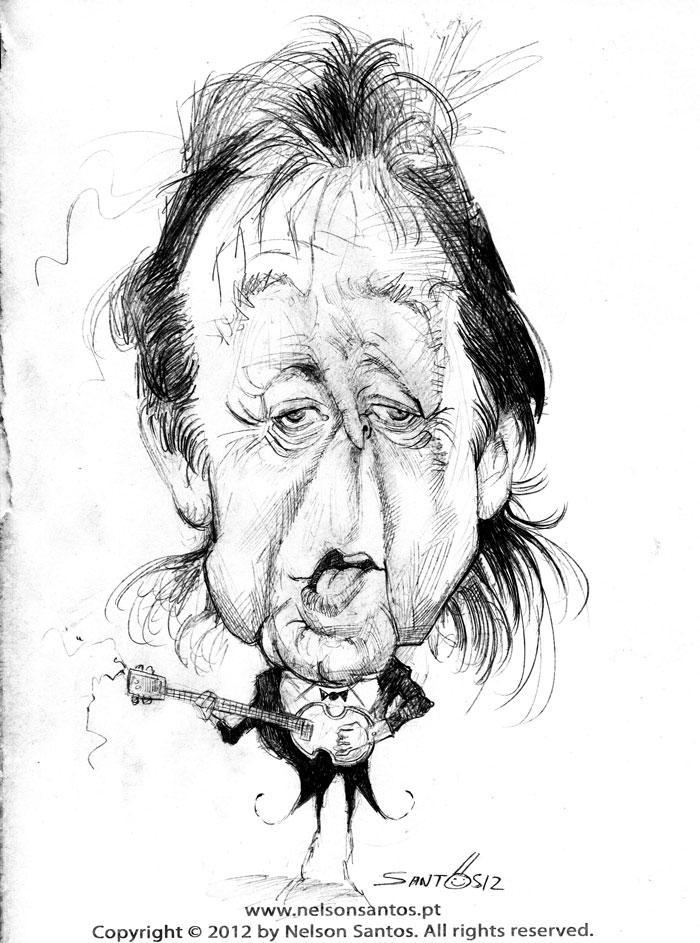 Sir Paul McCartney caricature sketch by nelsonsantos