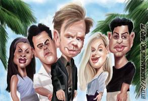 CSI Miami cast Caricature by nelsonsantos