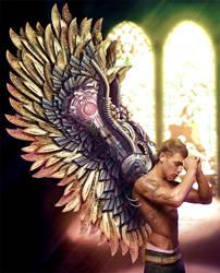 Winged Whisperer by bluzero8