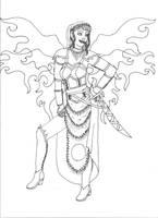 Fae Warrior by elementalillusions