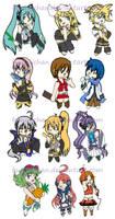 CHIBIS: Vocaloid by bunnychan