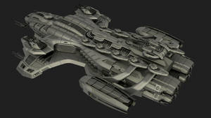 UPK (WIP) Tzedakah-class Destroyer Top by universalpainkiller