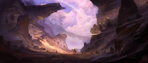 Cloud Canyon by XavierWard
