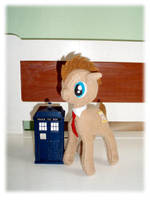 Doctor Whooves Plush SOLD 3 by Ishtar-Creations