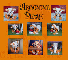 Arcanine medium size plush by Ishtar-Creations
