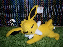 Jolteon Sleeping plush by Ishtar-Creations