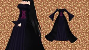 [MMD]- Long Dark Dress  -[DL] by TMoonlightA