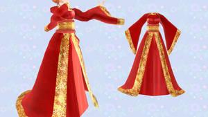[MMD]- Chinese Dress -[DL] by TMoonlightA