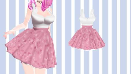 [MMD] - Shirt more Skirt - [DL] by TMoonlightA