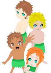 Spot, Hail, Kurt, and Dyna. by ThunderclapLover
