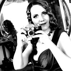 Sally Behind the Camera Black and White 2 by godsmistake