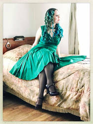 Sally in a Green Dress Color 3 by godsmistake
