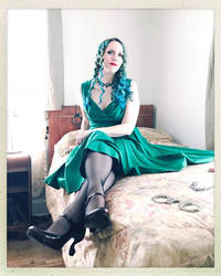 Sally in a Green Dress Color 4 by godsmistake