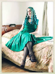 Sally in a Green Dress Color 5 by godsmistake