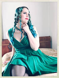 Sally in a Green Dress Color 1 by godsmistake