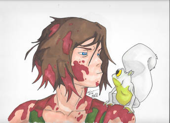 Korra and the Squirrel Frog by PDInk