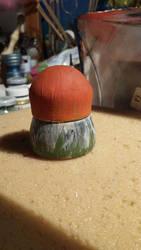 Wooden Mushroom Decor by vertibirdo