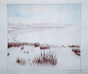 Winter Landscape - Color Pencil by KnightRanger